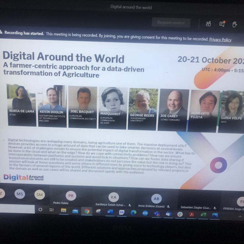 DEMETER sponsors Smart Agriculture session at Digital Around the World conference