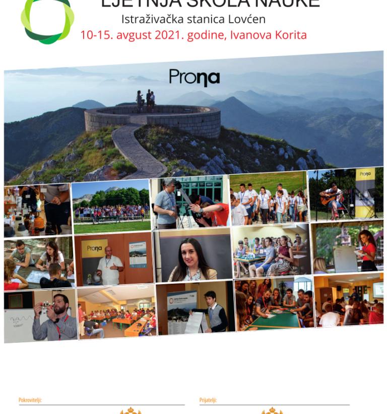 Summer School of Science for high school students in Montenegro