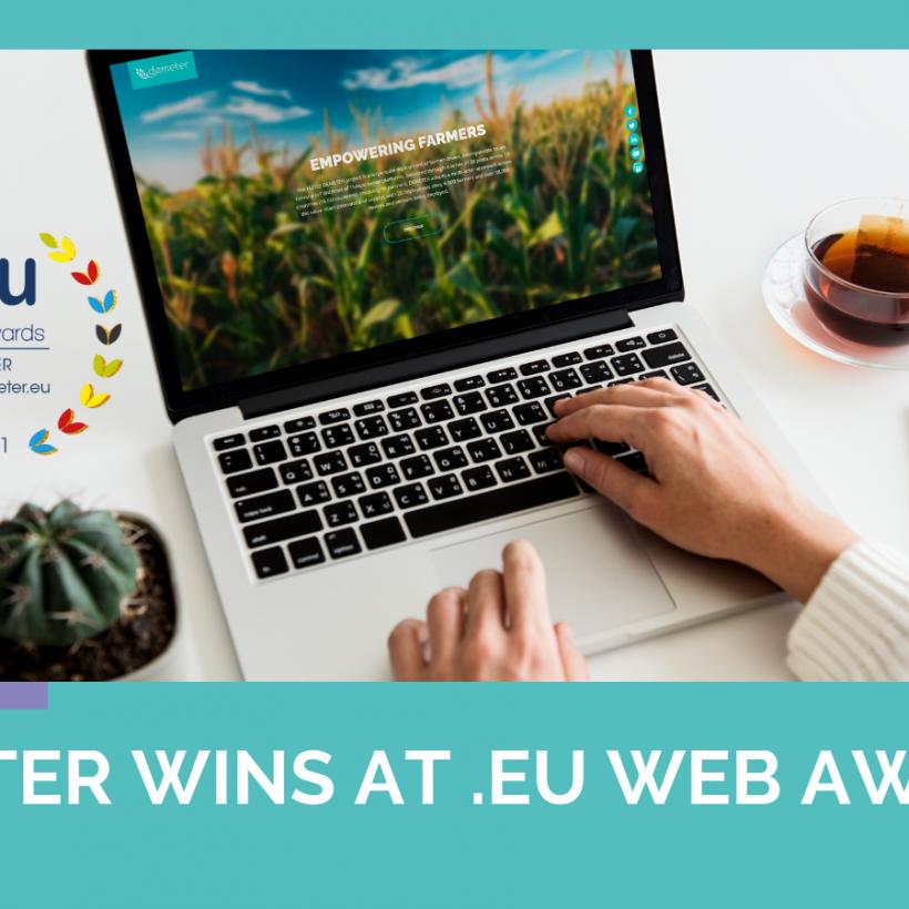 DEMETER wins at .EU Web Awards 2021 in Italy